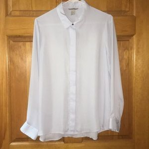H&M hidden button blouse.